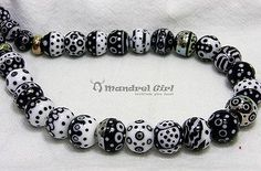 MandrelGirl - Handmade Lampwork - 35 Small Glass Beads - Dayin - Set
