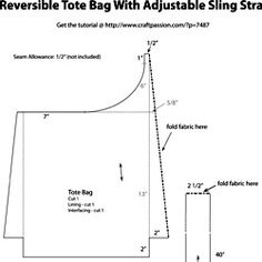 Pattern for Reversible Tote