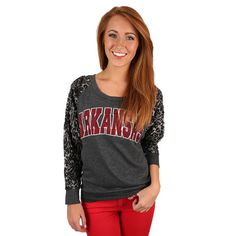 Leopard Sweater University of Arkansas | Impressions Online Women's Clothing Boutique #shopimpressions