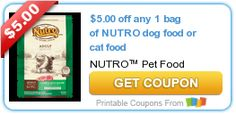 Tri Cities On A Dime: SAVE $5.00 ON ANY NUTRO DOG FOOD OR CAT FOOD