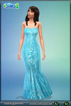 Blackys Sims 4 Zoo: Evening dress 30 by Blackypanther • Sims 4 Downloads
