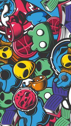 Cool Graffiti Wallpaper for iPhone - Siteismi Beste Iphone Wallpaper, Hd Phone Wallpapers, Dope Wallpapers, Wallpaper Iphone Cute, Galaxy Wallpaper, Animes Wallpapers, Cartoon Wallpaper, Graffiti Wallpaper Iphone, Pop Art Wallpaper