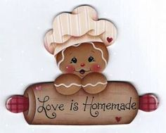 6 Love is Homemade Gingerbread wood ornaments to paint - Pamela House design Gingerbread Decorations, Gingerbread Ornaments, Christmas Gingerbread, Wood Ornaments, Christmas Art, Christmas Decorations, Christmas Ornaments, Gingerbread Cupcakes, Country Paintings