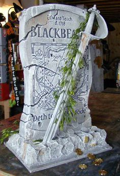 Blackbeard's Tombstone: Tutorial - Blogs - Halloween Forum