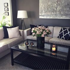 small living room designs are offered on our website. Check it out and you will not be sorry you did. Living Room Decor Cozy, Small Living Rooms, Home Living Room, Apartment Living, Interior Design Living Room, Living Room Designs, Bedroom Decor, Wall Decor, Apartment Ideas