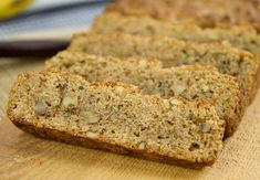 Zucchini Bread - low carb - Great dessert - Don't forget to squeeze out the shredded zucchini to removed too much moisture that gives it a pudding type of texture. 4.9 net carbs per serving
