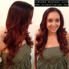 Copper color melt. Balayage beauty by Carleen Sanchez www.haircutcolor.com