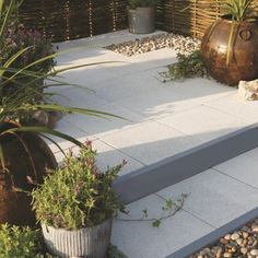 StoneFlair by Bradstone Panache Paving Silver Fleck Textured patio kits 7.68 m2 Per Pack