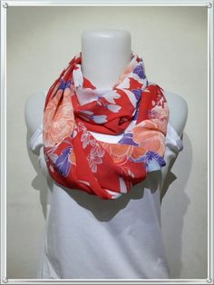 """Zi"" floral scarf"