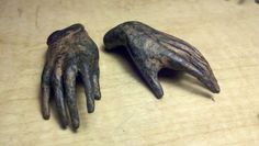 Small Bronze Hands by smallbronzes on Etsy