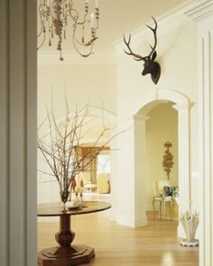 Chic Faux Taxidermy... yes it's possible. A deer head on the wall shows off your unique cool decor style.