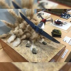 Unknown modeler and scale Military Diorama, Military Art, Reclaimed Wood Dining Table, Trash Polka, Military Modelling, Tiny World, Train Layouts, Model Ships, Plastic Models