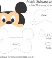 Molde Máscara de Dormir Mickey - Molde para EVA - Feltro e Artesanato Mickey Mouse, Felt Mask, Diy Mask, Sleep Mask, Felt Animals, Sewing Projects, Mikey, Paper Crafts, Embroidery