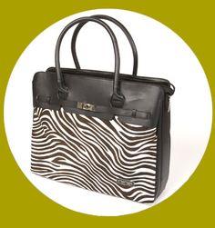 buy laptop bag online > black zebra print ladies laptop bag, leather laptop case: nine laptop bags www.ninelaptopbags.com