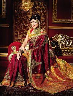Indian bridal saree.