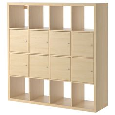 KALLAX Shelf unit with 8 inserts - birch effect, 147x147 cm - IKEA