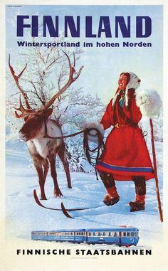 Finnland - Wintersportland im hohen Norden - Finnische Staatsbahen - 1960's - (E. Blomberg) -