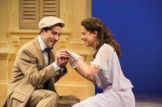 "Tasso Feldman (left) as Proteus and Betsy Mugavero as Julia in Utah Shakespeare Festival's 2015 production of ""The Two Gentlemen of Verona."""