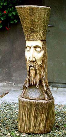"""Rzeźba w drewnie """"Janosik"""" - Pracownia rzeźby """"TROCINKA"""""""