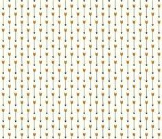 Falling Arrows fabric by kathrynzaremba on Spoonflower - custom fabric