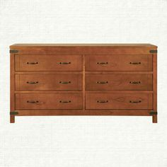 View the Bentley 6 Drawer Dresser from Arhaus. The Bentley Collection is inspired by the campaign style of the 18th and 19th centuries. The original