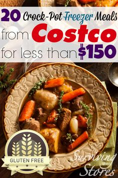 Make 20 Gluten-Free Freezer Meals From Costco For Less Than $150!!  All it takes is 2 hours on the weekend and you have weeknight dinners for the entire month!