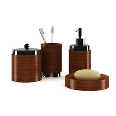 3D Model Wooden Bathroom Fixtures c4d, obj, 3ds, fbx