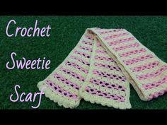 ถักผ้าพันคอโครเชต์หวานเย็น (Crochet Sweetie Scarf) - YouTube