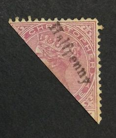 Christopher ½d on wmk Crown CA Postage Stamps, 2d, Islands, Caribbean, Crown, Antiques, Antiquities, Corona, Antique