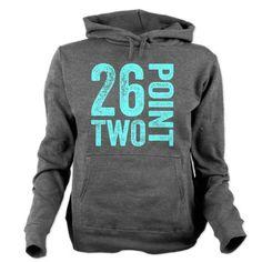 26.2 Marathon Running Motivation Women's Hooded Sweatshirt #hoodie #runners #run