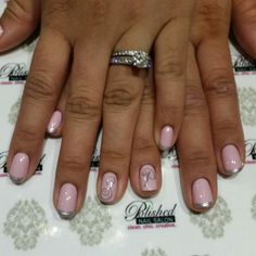 Pretty in pastel pink with silver initials #naildesign #nailart #opi #ModAboutYou #getPolished #polishednailsOk #nailswag #nailsokc #okcnails #okc #yukonsBest #instaNails #notd #nailsOfTheDay at Polished Nail Salon