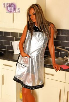 Plastic Aprons, Pvc Apron, Blouse, Sexy, Latex, Summer Dresses, Elegant, Housewife, How To Wear