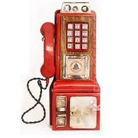 Cofre Telefone Público Vermelho Antigo