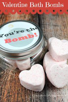 You're the Bomb Valentine Bath Bomb an Free Printable- Valentine's Day DIY Craft