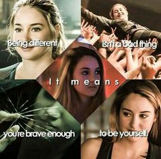 In Veronica Roth's novel Divergent, Beatrice Prior's (Tris) society is divided into five factions, each dedicated to the cultivation of a particular virtue. When the factions were formed, however, each gained a negative and a positive trait. The factions are: Abnegation, Erudite, Dauntless, Amity, and Candor.