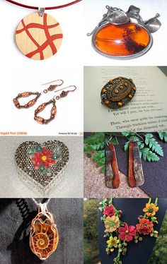 Glowing orange jewelry for winter by MaryClaires on Etsy--Pinned with TreasuryPin.com