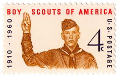 50th Anniversary of Boy Scouts of America (1960) .  4 cents