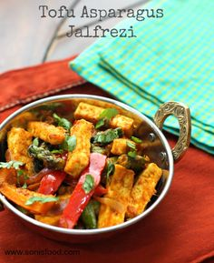 Tofu Asparagus Jalfrezi. An Indian Stir Fry: tastes absolutely Amazing and couldn't be Easier!