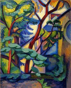 wetreesinart: André Lhote (Fr. 1885-1962),Paysage fauve à l'Estaque, 1909, huile sur toile