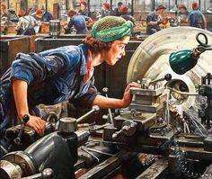 L'ouvrier ou l'élaboraton du projet - ©Dame Laura Knight - 1877-1970