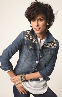 Dazzle Denim Jacket #Fall #Lookbook #chicos