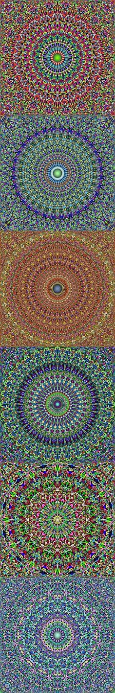 Buy 12 Floral Mandala Seamless Patterns by DavidZydd on GraphicRiver. Mandala Pattern, Mandala Design, Mandala Art, Bohemian Design, Boho Designs, Geometric Background, Background Patterns, Color Patterns, Geometric Patterns