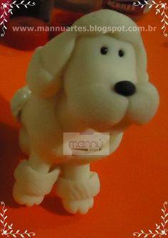 Poodle de Biscuit 001 - Loja de mannuartes