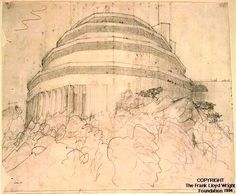 Gordon Strong Automobile Objective - Frank Lloyd Wright: Designs for an American Landscape, 1922-1932 | Exhibitions - Library of Congress
