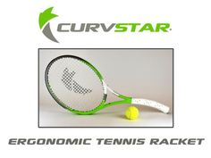 Curvstar - Innovative ergonomic tennis racket by Manuela Emmrich — Kickstarter.  A tennis racket design that improves your game and keeps your wrist and arm in a natural and ergonomic position.