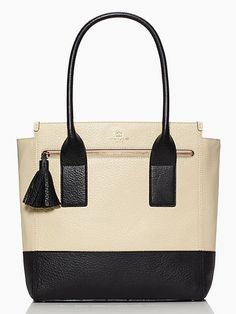 Kate Spade ny SOUTHPORT AVENUE LINDA Tote in Buttermilk/Black WKRU1858 #katespade #TotesShoppers