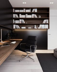 Home Office Space, Home Office Decor, Office Spaces, Modern Home Office Furniture, Apartment Office, Home Modern, Modern Rustic, Modern Decor, Modern Design