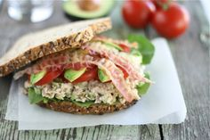 Tuna California Club Sandwich