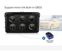 Support Mirror Link Built-in OBD2 (OBD2 Adapter Optional)