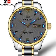>> Click to Buy << Carnival Tritium Luminous Series Luxury Business Men's Watches Top Brand Automatic mechanical Watch Waterproof Sapphire Glass #Affiliate